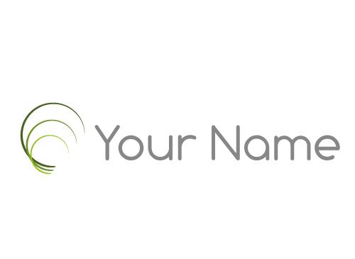 Ökologisch, Drei Kreise, Wellen, Linien, Logo