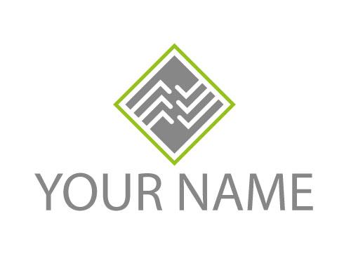 Zweifarbig, Zeichen, Rechteck, Linien, Verbindungen, Logo
