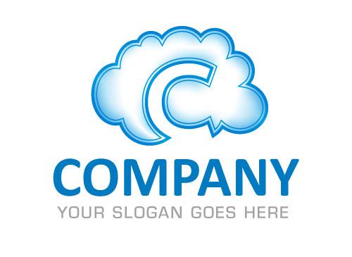 Zeichen, Signet, Logo, wolke, cloud