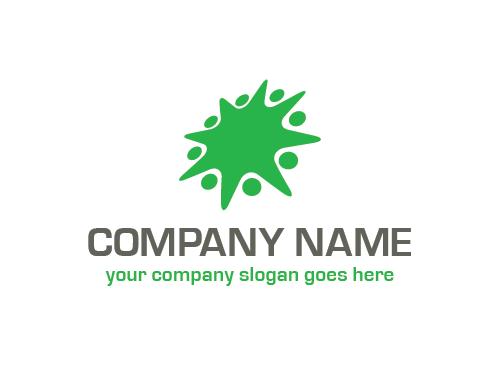 Ökologie Logo, Menschen, Gruppen, Natur, Recycling