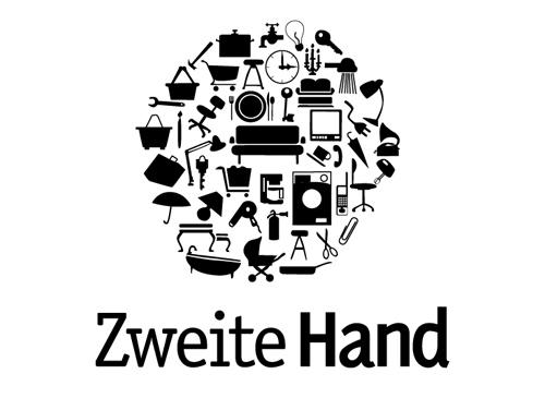 """Shopping Logo - Second Hand """"Zweite Hand"""""""
