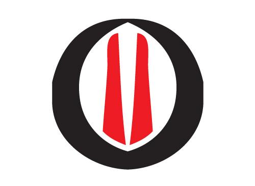 Kreis mit roten Linien