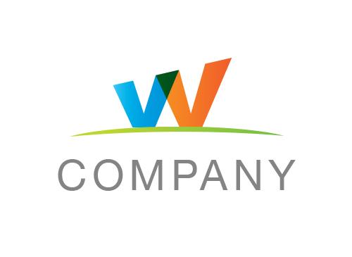 Zeichen, Signet, Logo, Company, Buchstabe, W, Abstrakt