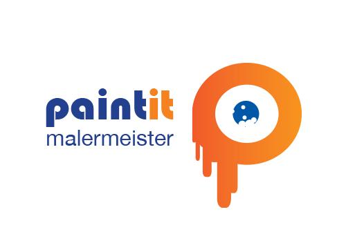 Logo Maler, Farbe, Buchstabe P - logomarket