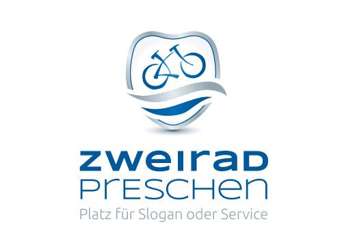 Logo mit Fahrrad, Bike im Wappen