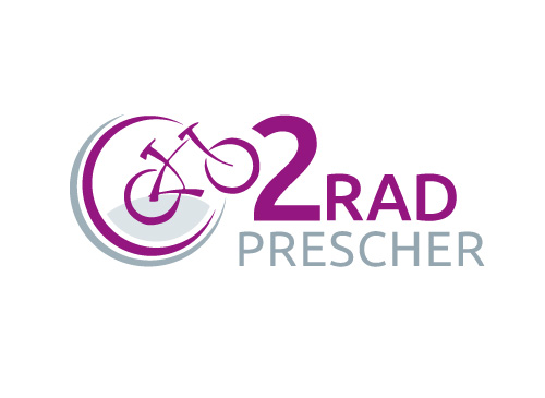 Logo mit Fahrrad, Bike