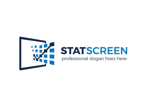 Ö, Zeichen, Statistik, Strategie, Diagramme, Bildschirm, Monitor, Beratung, Perspektiv Logo