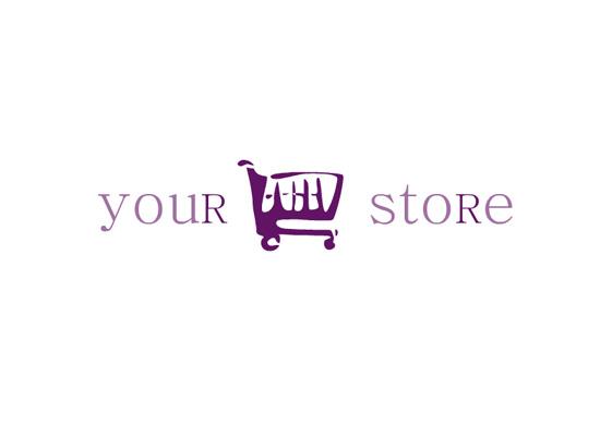 Einkaufswagen - Logo für Onlinehandel