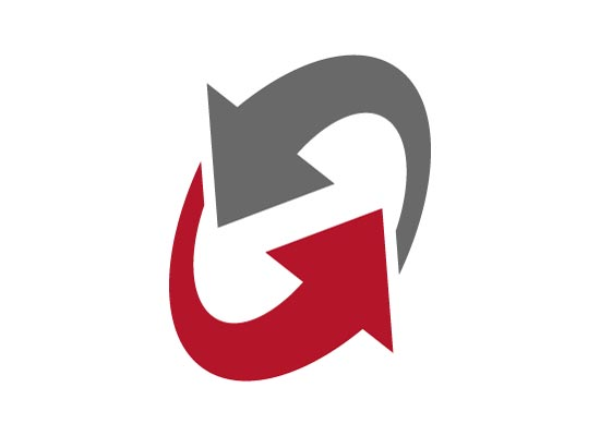 Pfeile als Kreislauf - Logo