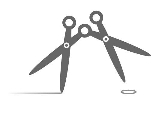 Frisör oder Schneider Logo