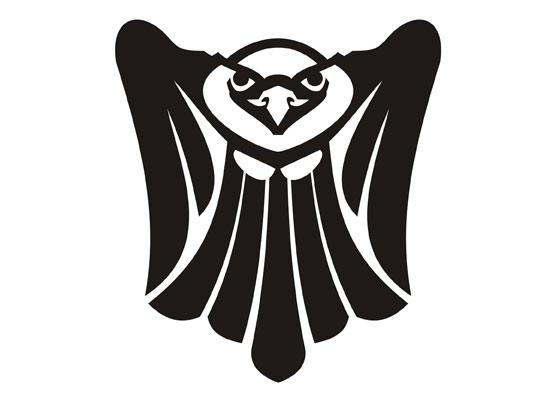 Adler in Schwarz/ Weiß