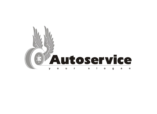 Autoreifen mit Flügel - Logo für Reifenhändler