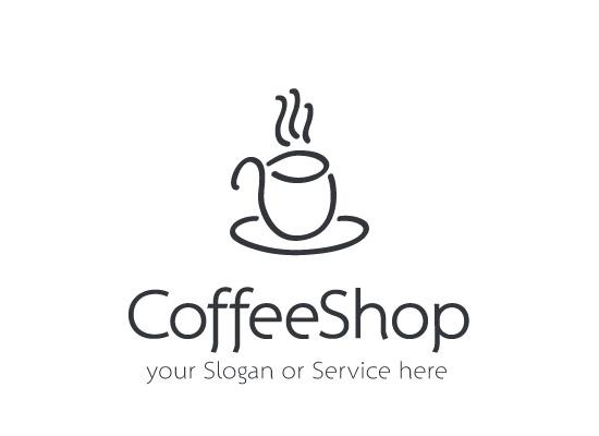 Schlichtes Logo für ein Coffeshop