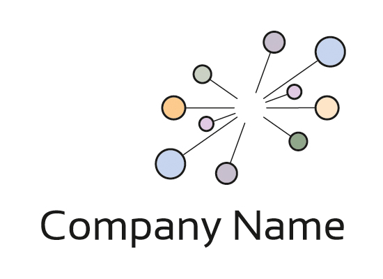 Netzwerk Logo mit Punkten