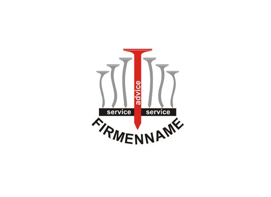Logo mit Nägeln z.B. für Tischlerei