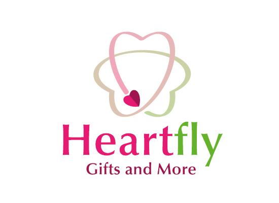 Heart Fly - Logo mit Herzen