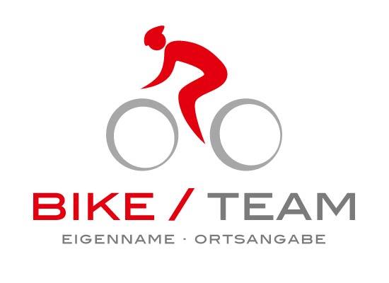 Fahrradfahrer mit Fahrrad