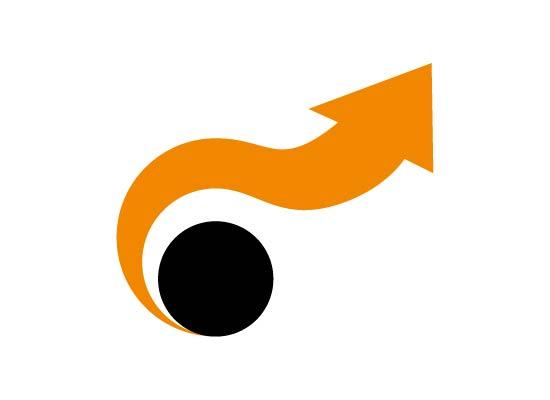 Logo Pfeil in runder Bewegung nach oben