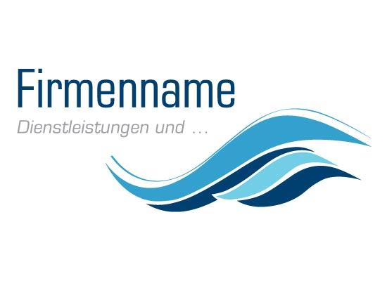 Logo mit Wasser Wellen
