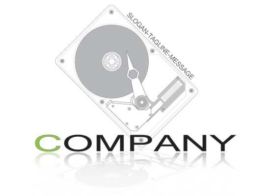 Schallplattenspieler - DJ Logo