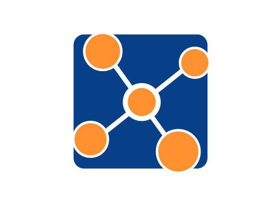 Netzwerk mit 5 Punkten