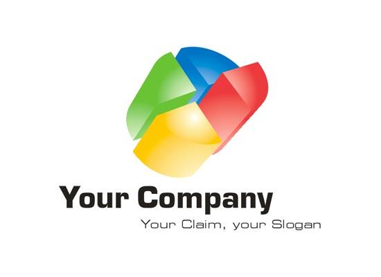 3D Logo abstrakt vielseitig