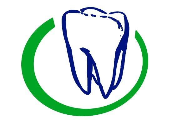 Zahnarzt Logo im grünen Kreis