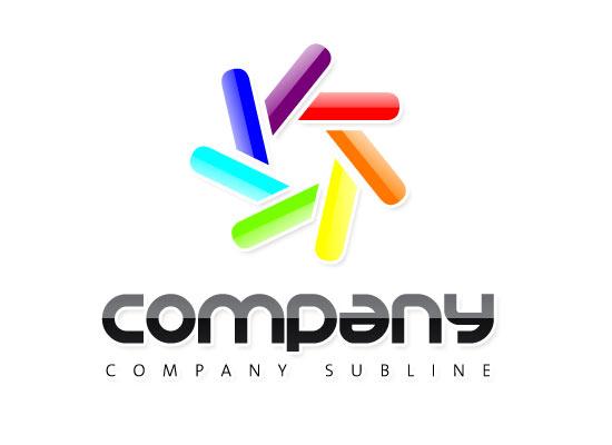Farbskala Logo - Buntest Logo mit glossy Effekt