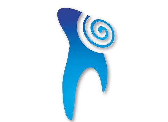 Zahn mit der Gesundheitsspirale