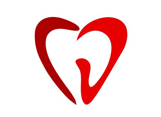 Zähne in Herzform