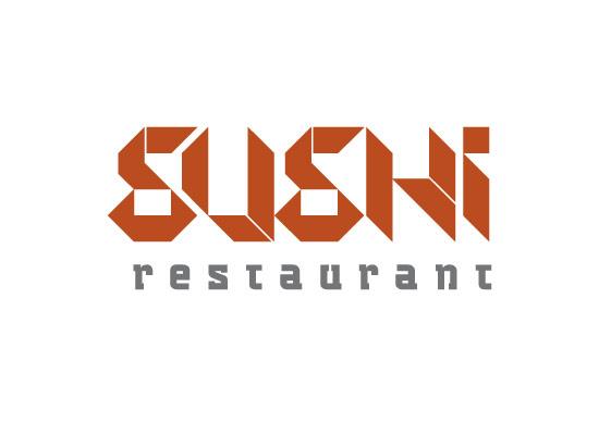 Sushi Restaurant - Typografisches Logo