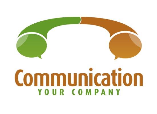 Telefonhörer - Kommunikations Logo