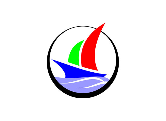Segelschiff mit zwei Segeln