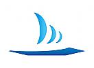 Zeichen, Zeichnung, Symbol, Segelboot, Boot, Schiff, Logo