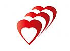 Zeichen, Zeichnung, Symbol, Logo, Drei, Herz, Liebe