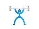 Zeichen, Zeichnung, Training, Sport, Fitness, Logo
