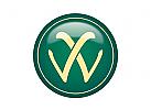 Logo Signet, Markenzeichen, Initial W Logo im englischen Stil