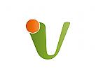Zeichen, Zeichnung, Buchstabe, U, V, Coaching, Consulting Logo