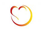 Stilisiertes Herz Logo