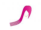 Zeichen, Zeichnung, Symbol, Logo, Kosmetik, Haare, Frisör, Frau