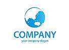 Welt, Blauer Planet Logo