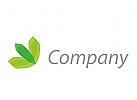 Wellness, Kosmetik, Bl�tter Logo