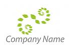 Zwei Spiralen aus Blättern Logo