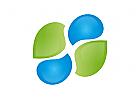 Zwei Tropfen, Zwei Blätter, Coaching, Consulting, Logo