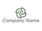 Zeichen, Zeichnung, Symbol, Windrad Logo