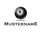 Logo Billardkugel mit 8