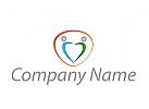 Zwei Personen, Paar, Menschen, Logo