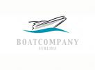 Logo Boot Yacht Schiff Motorboot Yachtagentur Wasser Wellen Türkis