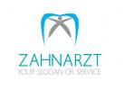 Zahn mit einer Person - Zahnarzt Logo