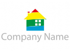 Vier Farben Haus Logo